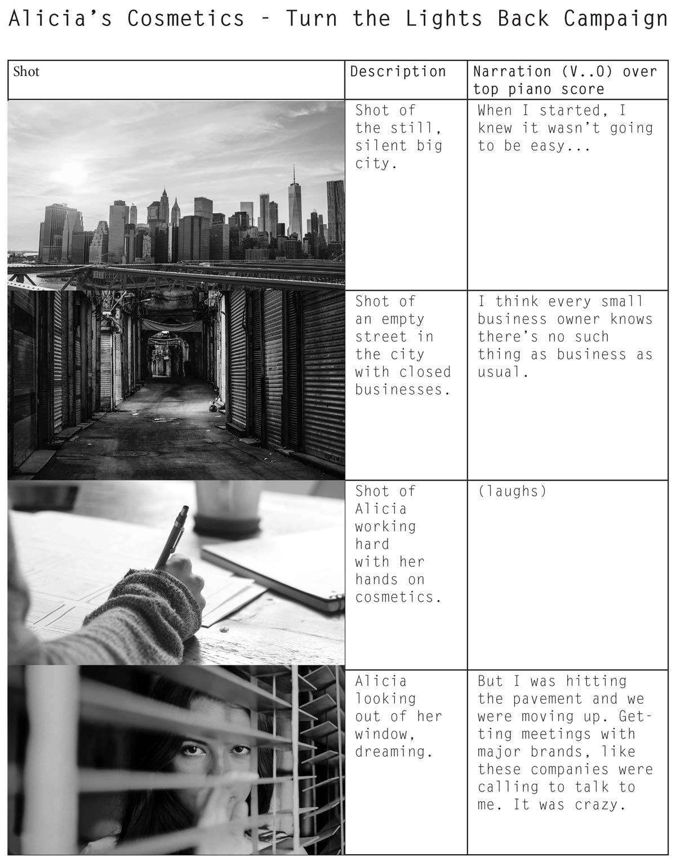 images alongside script on a page